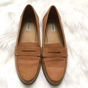Steve Madden Leather Brown Classic Flat Loafers